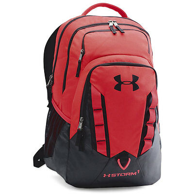 NEW Under Armour Storm Recruit Backpack - Red/Black/Black (601)