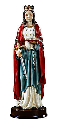 """St. Dymphna 8.75"""" Inch Statue NEW Boxed Catholic Patron Against Depression"""