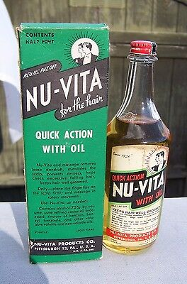 Nu-Vita Oil For The Hair-Unopened-Original Contents-Pittsburgh,pa..