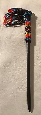 Awesome New Native American Lakota Sioux Beaded Single Hair stick