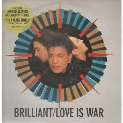 """BRILLIANT Love Is War DOUBLE 12"""" VINYL UK Wea 1986 5 Track Special Limited"""