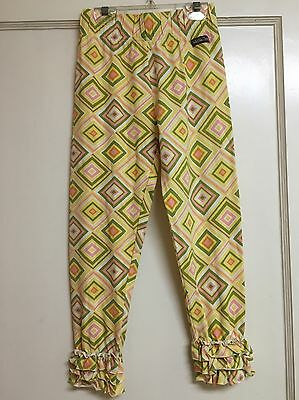 Girls Matilda Jane Geometric Ruffle Pants Leggings Size 10