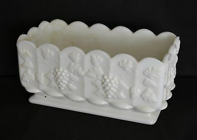 ThriftCHI ~ Westmoreland Glass Heavy Duty Milk Glass Square Planter