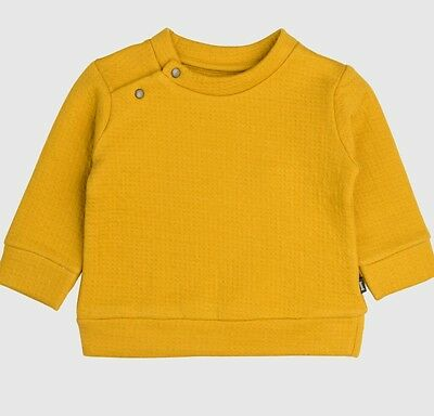 NWT Imps and Elfs Designer Amber yellow top sweater baby unisex size 6-9 months