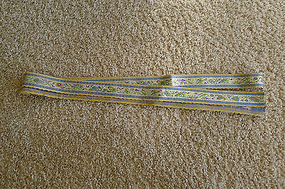 Lovely old Chinese woven silk edging