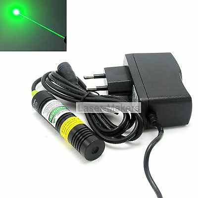 532nm 10mw Green Laser Dot Diode Module w/ 5V Adapter 18x75mm Long-Working