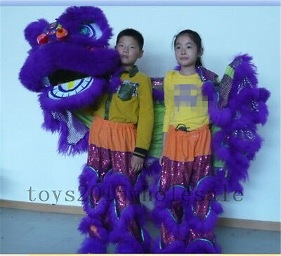 Pur Lion Dance mascot Costume pure wool Southern Lion For two kids Advertising