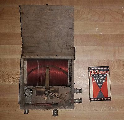 vintage crystal radio with new Phillmore Detector