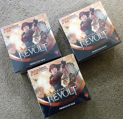 Magic The Gathering Aether Revolt Prerelease Kit Pack Lot Of 3 Priority Shipping