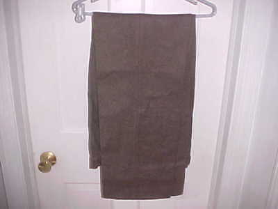 Vintage  Pre  Wwii  U.s.m.c.  Olive  Drab  Wool Trousers  Size  33 X 33 Lite Use