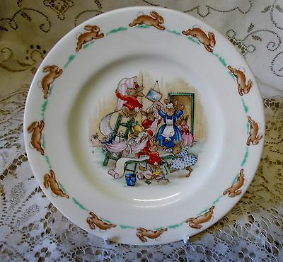 Vintage Royal Doulton Bunnykins Plate Made In England