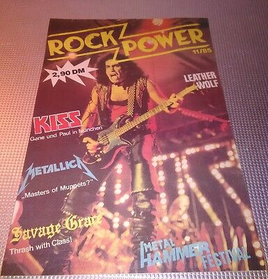 Kiss Rock Power German Mag Only Pages Sheets Very Rare Original