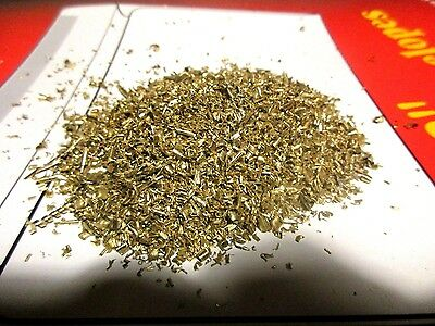 1 Pound of brass gold colored Metal turnings  Scrap Chips Orgone crafts