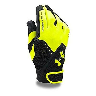 Under Armour Men's Clean-Up VI Batting Gloves, High-Vis Yellow (731), X-Large