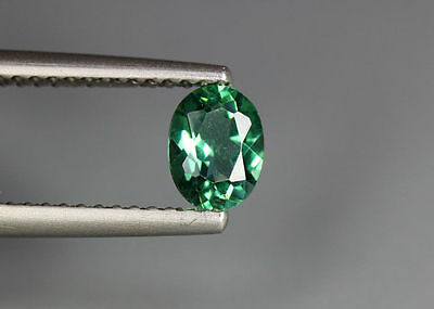 0.53 Cts_Simmering Ultra Nice Gemstone_100 % Natural Neon Green Apatite_Brazil