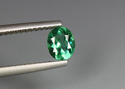 0.55 Cts_Simmering Ultra Nice Gemstone_100 % Natural Neon Green Apatite_Brazil