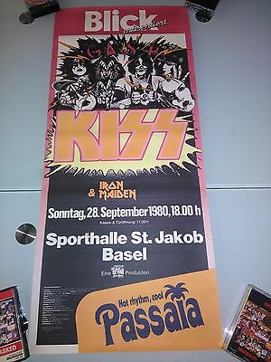 Kiss Live Basel Swiss 1980 Poster Very Rare Repro Hq
