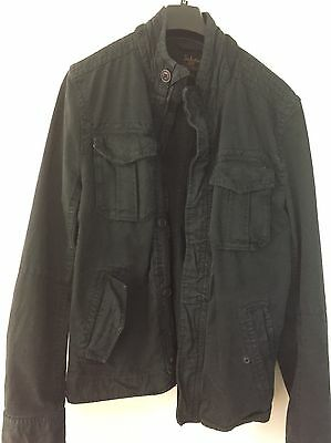 Men's Charcoal/black Casual Industry Denim Jacket (G-Star Style) Size M