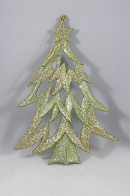 Winter Whispers Gold Glittered Tree Christmas Tree Ornament new holiday