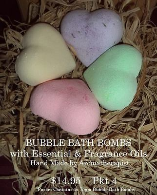 BUBBLE BATH BOMBS with Essential & Fragrance Oils  Pkt 4