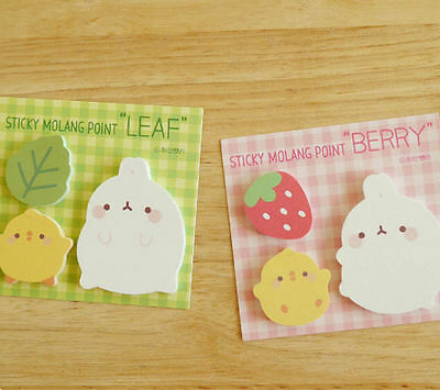 Molang Sticky Point Post-it Memo Note Pad Bookmark Index Cute Point Marker