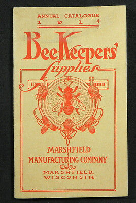 vintage 1914 original BEE KEEPERS SUPPLY Booklet Marshfield Man Co WI antique