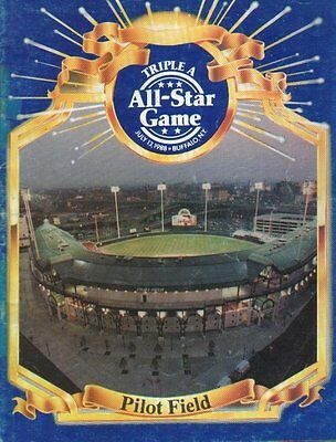1988 Triple A All-Star Game Program Autographed by 27 w/ Gregg Jefferies