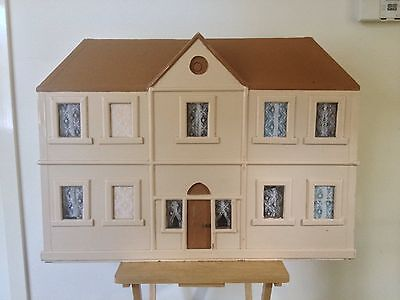 Vintage Dolls House Genuine Wooden 1960s Large Old Handmade Doll Toy