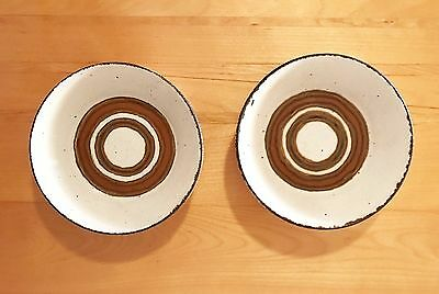 Vintage 'earth' Stonehenge Midwinter Soup/cereal Bowls (2) - Made In England