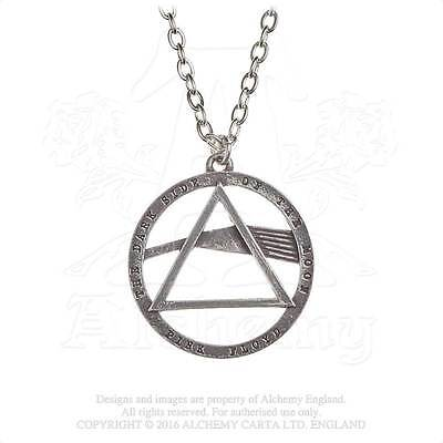 Pnk Floyd Dark Side of the Moon Prism  Pewter Pendant by Alchemy Gothic - New