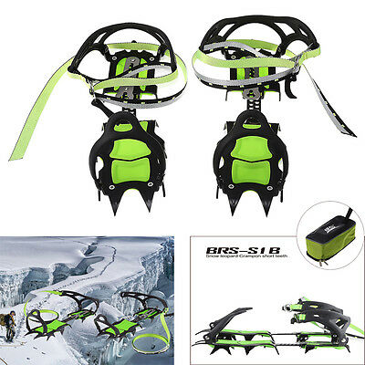 BRS-S1B Fourteen Teeth Bundled Crampons Professional Ice Gripper Cleats Boots