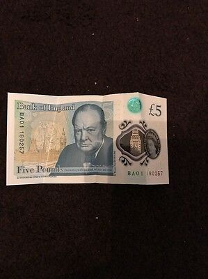 new 5 pound note Ba 01 Serial Number