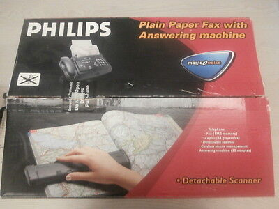 Phillips Paper Fax Machine with Answering Machine