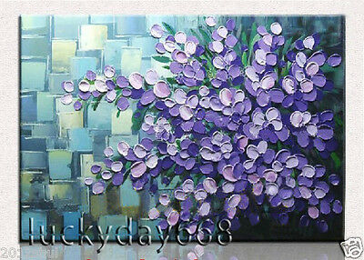 Framed Handpainted Modern Abstract Art Oil Painting Wall Decor on canvas-Flowers