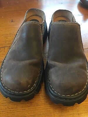 womens colorado slip on leather brown shoes size 9