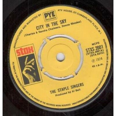 "STAPLE SINGERS City In The Sky 7"" VINYL UK Stax 1974 B/w That's What Friends"