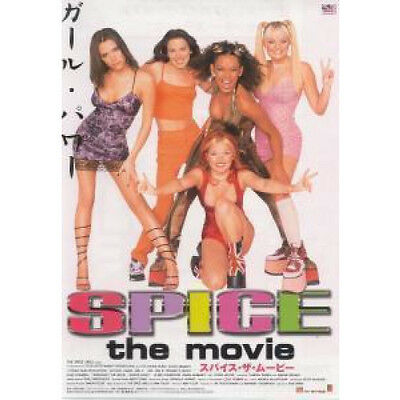 SPICE GIRLS Spice The Movie FLYER Japanese Double Sided Promo Flyer