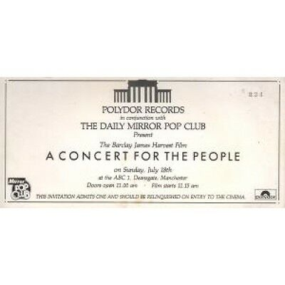 """BARCLAY JAMES HARVEST A Concert For The People FLYER UK Polydor 4""""X8"""""""