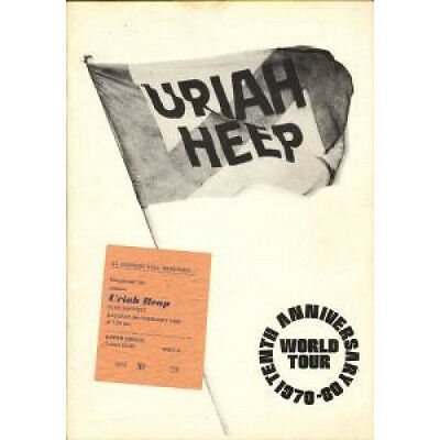 URIAH HEEP Tenth Anniversary World Tour TOUR PROGRAMME UK 1980 Tour Programme