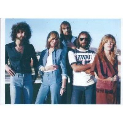 FLEETWOOD MAC Blue Sky PHOTOGRAPH UK A4 Colour Photo Of Band Stood With Blue