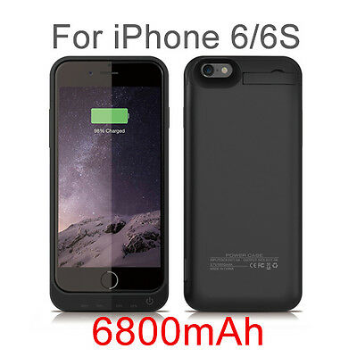 6800mAh Portable External Power Bank Battery Charger phone Case for iPhone 6 6S