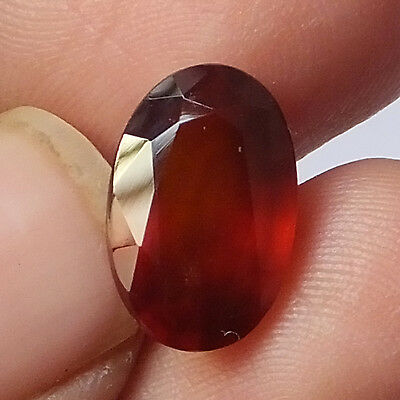 5.60 Carat Natural Hessonite Garnet 9X13.5MM Faceted Gemstone Oval Shape