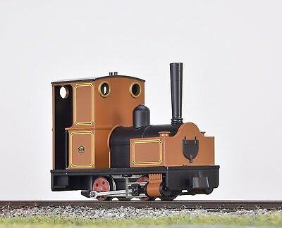 Minitrains 2012 - Bagnall Wingtank 0-4-0 Brown - New. (009/HOe Narrow Gauge)