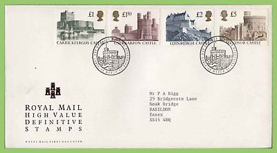 G.B. 1992 Castle High Value definitives on Royal Mail First Day Cover, Windsor