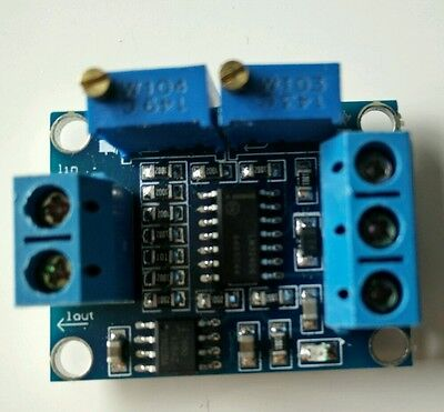 Convert 4-20mA Current To 0-3.3V/5V/10V/15V Voltage Module Signal Conditioning!