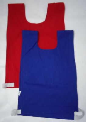 9 Red/blue Training Bibs, Cotton, Size: Junior. ***used