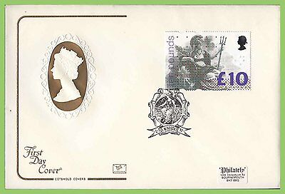 G.B. 1993 £10 Britannia definitive Cotswold First Day Cover, Windsor