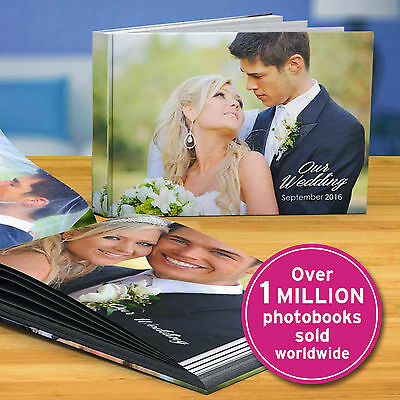 A4 Hardcover Personalised PHOTO BOOK Scrapbook Album Custom YOUR Images Memories