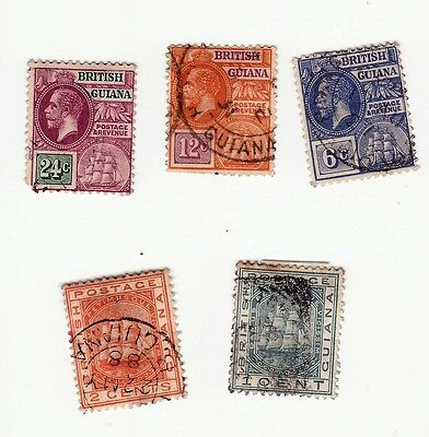 British Guiana small seln incl.1921-27 defins6c,12c,24c and 1888 1c, 2c used