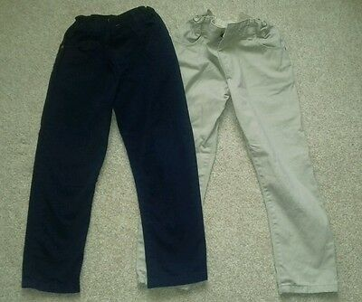 Marks and Spencer Boys Trousers Chinos Two Pairs 5-6 years